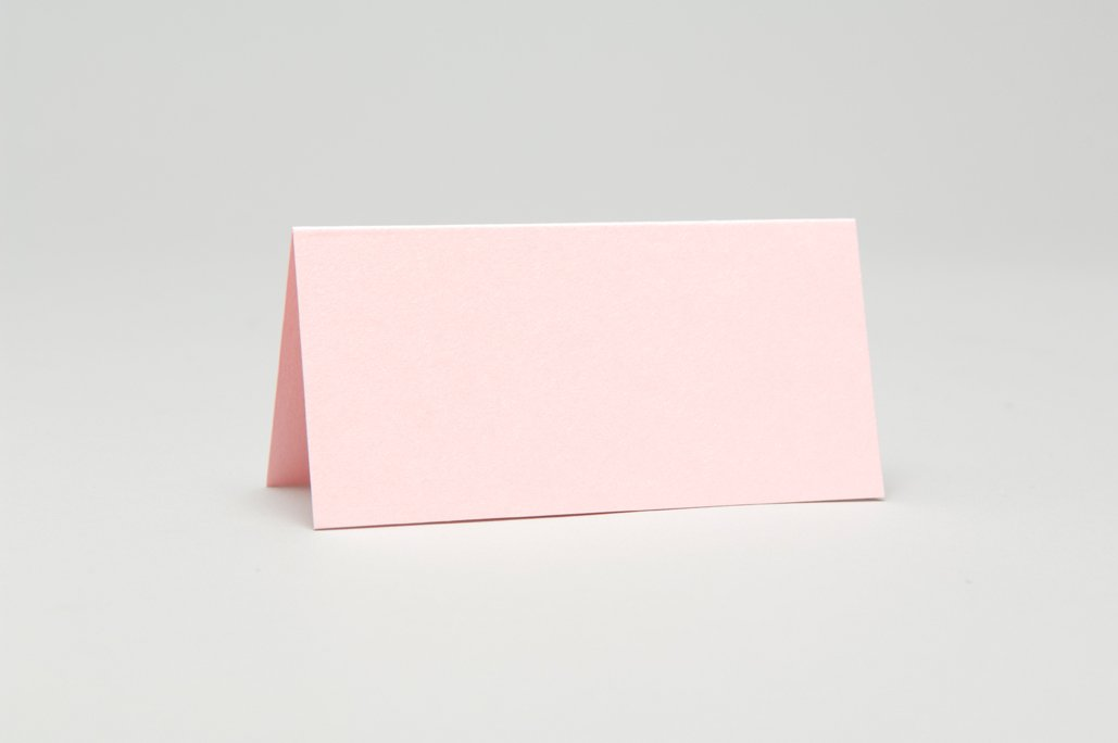 10 x Rose Pink Pearlescent Place Cards Pocketfold Invites
