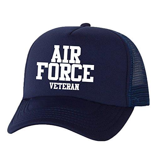 Air Force Veteran Truckers Mesh snapback hat in Navy - One Size