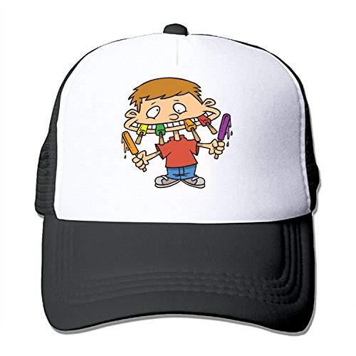 Baseball Caps, Cartoon Pictures of Junk Food Women Men Unisex Mesh Hip Hop Hats Baseball Caps