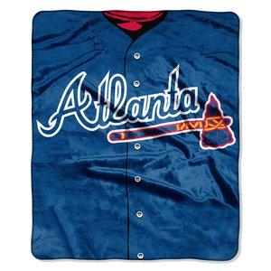 MLB Atlanta Braves Jersey Plush Raschel Throw, 50'' x 60''