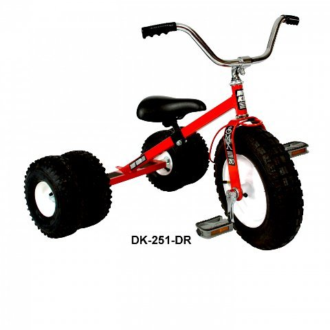 Dually Kid's Tricycle (Red) by Dirt King