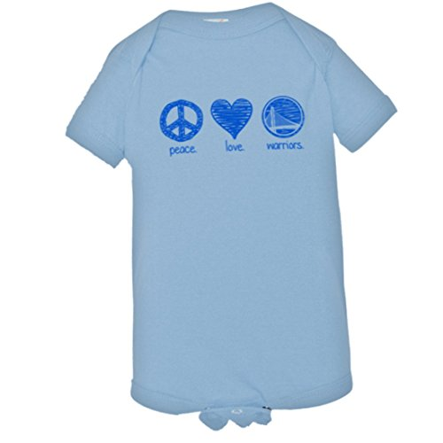 Baby Creeper Cute Sketch Peace Love GS Warriors Curry HQ 1-Piece Jumper - Light (Baby Clothes Catalog)