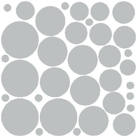 (N.SunForest 34 Gray Polka Dots Vinyl Wall Decals Removable Décor Stickers Home Kitchen Baby Nursery Wall Art Mural)