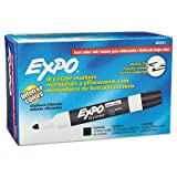Expo Low Odour Bullet Tip Dry Erase Markers, 12 Black Markers (82001)