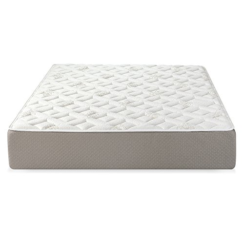 "Serenia Sleep 12"" Quilted Sculpted Gel Memory Foam Mattress, Full, White/Off-White/Brown"