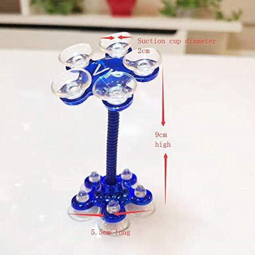 Magic Sucker Mobile Phone Holder Universal Mobile Phone Holder 360 Degree Rotating Flower Shape 360/° Rotation Blue Pink Blue Gold and Black
