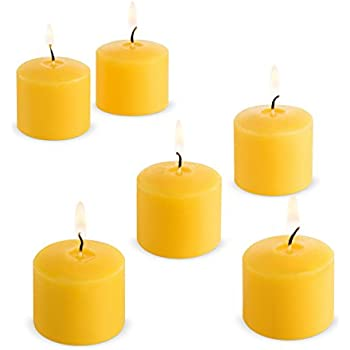 Votive Citronella Candles Yellow - 10 Hours - Set of 12