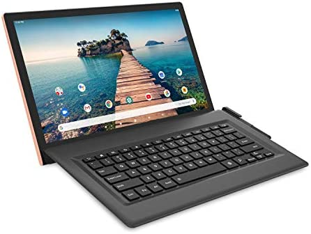 "RCA 14"" Luna Max [RCT6T48Q35] Quad-Core 3GB RAM 128GB Storage IPS 1920 x 1080 FHD Touchscreen WiFi Bluetooth with Detachable Keyboard Android 10 Tablet (Rose Gold)"