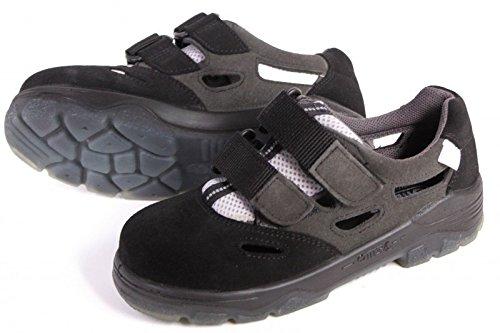OTTER 98425 Sicherheitsschuh Arbeitsschuhe offen Sommer Sandale ESD Frau Damen, Größe:38