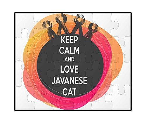 Makoroni - Keep Calm and Love Javanese CAT - Jigsaw Puzzle, 30 ()