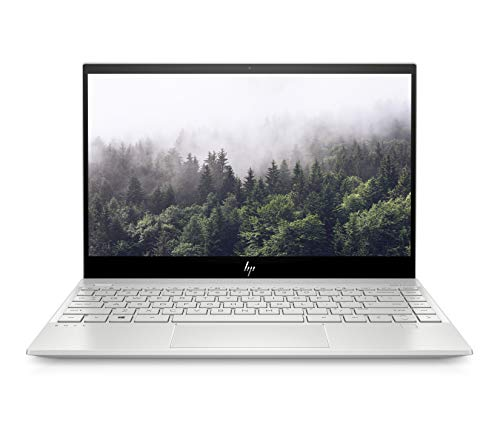 "HP Envy 13"" Thin Laptop W/ Fingerprint Reader, 4K Touchscreen, Intel Core i7-8565U, NVIDIA GeForce MX250 (2GB GDDR5 Dedicated), 16GB SDRAM, 512GB SSD, Windows 10 Home (13-aq0044nr, Natural Silver) - Laptop No Operating System"
