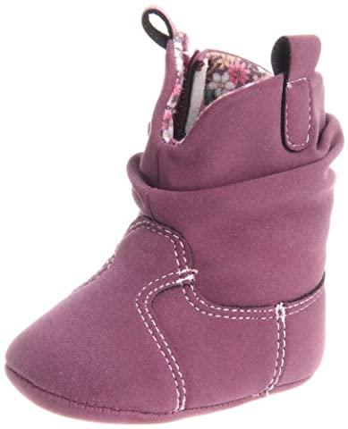 Natural Steps Lil Houston Boot (Infant) Berry Suede 3 M US Infant (Houston Crib)