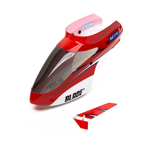 BLH-H Complete Red Canopy W/Vertical Fin: Mcp - Canopy Complete Blade Red