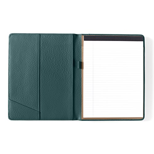 Leatherlogy Standard Padfolio with Pen Loop - Full Grain Leather Leather - Viridian (green) by Leatherology