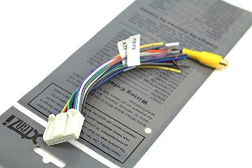 pyle pldn74bti wiring harness diagram xtenzi car radio wire harness compatible with pyle cd dvd  xtenzi car radio wire harness