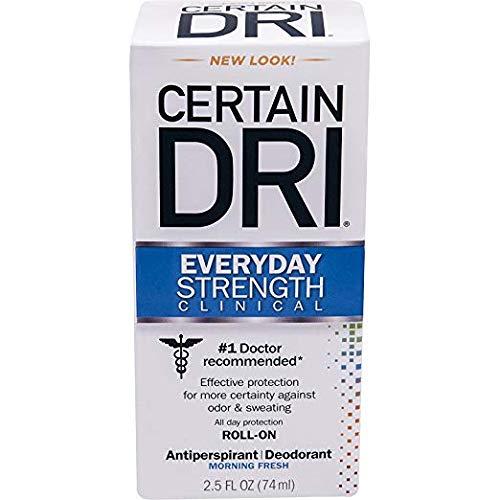 Certain DRI AM Antiperspirant/ Deodorant Morning Fresh Scent Roll-on, 2.5 oz Per Pack (2 Packs)