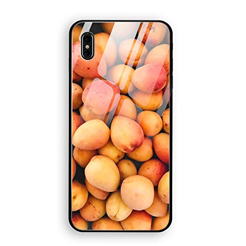 Luxury Apricots Fruit Ripe Harvest iPhone X Case with 9H Tempered Glass, Drop Protection, Wireless Charging Compatible Compatible for iPhone X