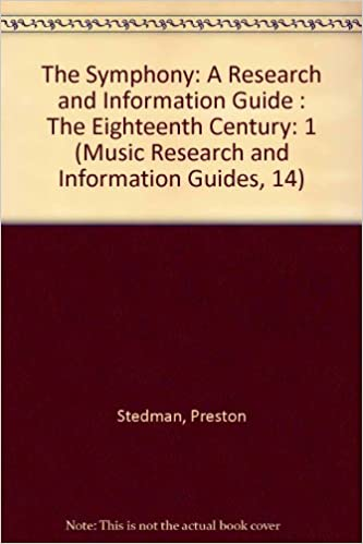 SYMPHONY 18C RSCH & INFO GD (Music Research and Information
