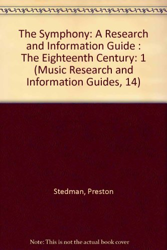 SYMPHONY 18C RSCH & INFO GD (Music Research and Information Guides, 14) (The Symphony Stedman compare prices)