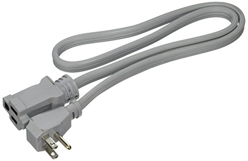 Prime EC680503L Air Conditioner and Major Appliance Extension Cord, Gray, 3-Feet ()