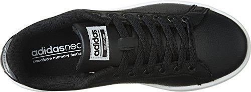 Adidas Women's CF Advantage CL Sneaker, Black/Black/Silver Metallic, 8.5 M US