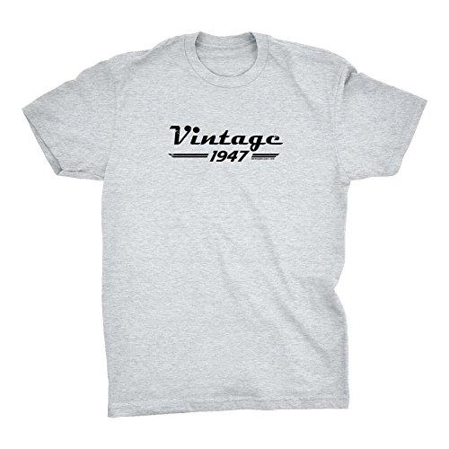 - 71st Birthday Gift Shirt - Retro - Vintage 1947 Aged to Perfection - Ash