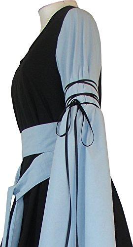Damen Hedwig Dornbluth Mittelalterkleid hellblau Schwarz dPSxZw8qAx