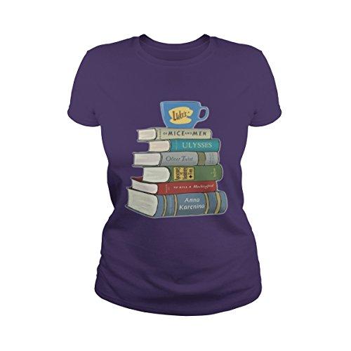 Women's Gilmore Girls Book T-Shirt (3XL, Purple) -
