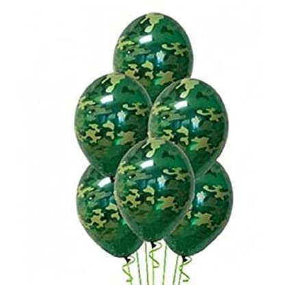 buy online fd628 f0a90 Army Military Camouflage 20 Count Party Balloon Pack - Large 12