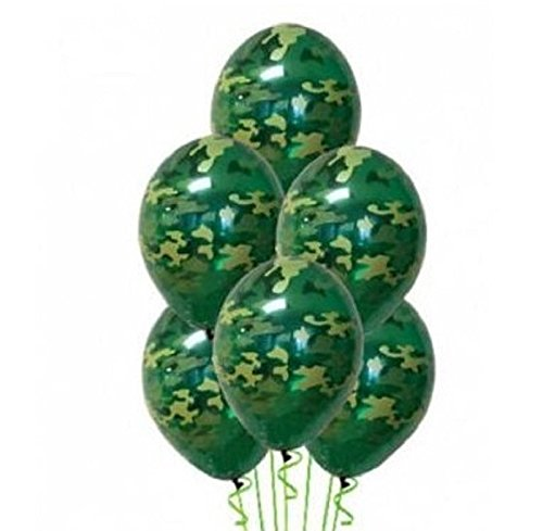 Army Military Camouflage 20 Count Party Balloon Pack - Large 12