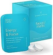 Neuro Mints Nootropic Energy Mints | Caffeine + L-theanine + B Vitamins | Sugar Free + Gluten free + Vegan (6