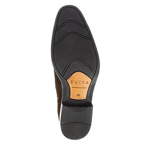 Evita Shoes Stefano Herren Stiefelette Rauleder Dunkelbraun