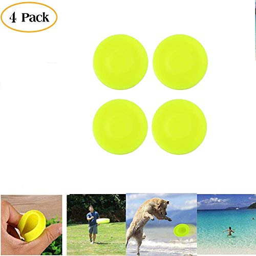 - HAAC Frisbee Chip Spin On The Game of Catch Mini Pocket Flexible Soft New Spin in Catching Game Flying Disc (Red 4PCS)