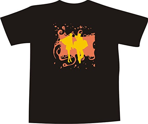 Black Dragon T-Shirt JDM / Die cut F853 with multicolored frontprint white XXL - shoping girl (Shoping Furniture)