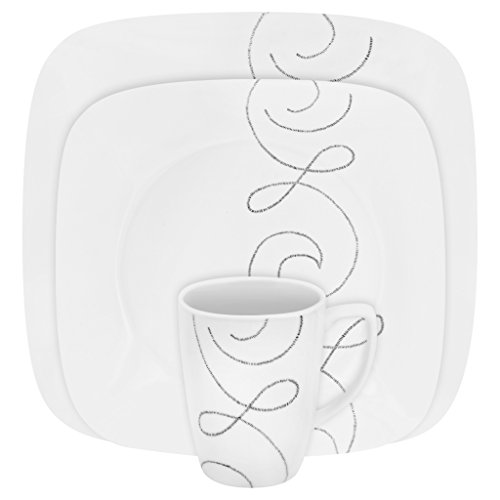 Corelle Square 16-Piece Dinnerware Set, Endless Thread, S...
