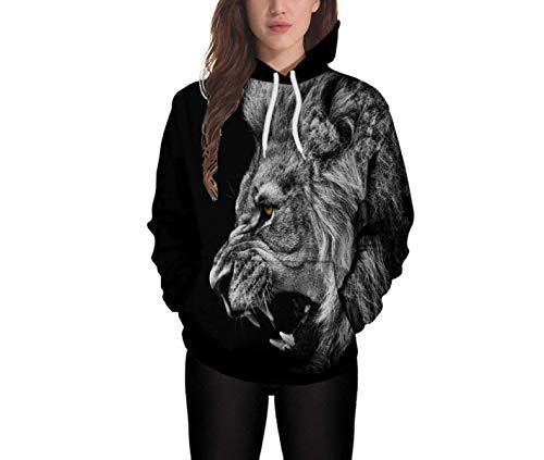 Hoodies Chic Invernali Unisex Streetwear Lunga Autunno Fashion Ragazza Uomo Manica Coppia Nero Donna Baggy Con nbsp; Felpe Animalier Cappuccio Casual Forti Taglie qqxSHrO