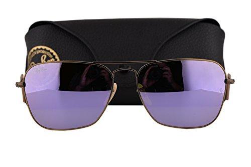 0a39c421bd Eyewear Frames Ray Ban RB3136 Caravan Sunglasses Bronze Copper w Green  Mirror Purple Lens 1674K RB 3136 Men Fashion Accessories