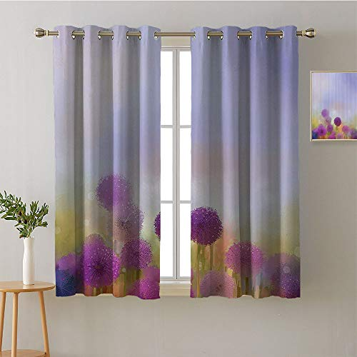Bali Panel Track - Jinguizi Curtain for Kitchen Window Grommets top Darkening Curtains Curtains,Extra Darkening Curtains Background Darkening Curtains Room/Bedroom(1 Pair, 42
