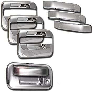 Amazon Com Zmautoparts Door Handle Covers Trim Bezel Chrome 8pcs Set For 2004 2013 Ford F 150 4dr Automotive