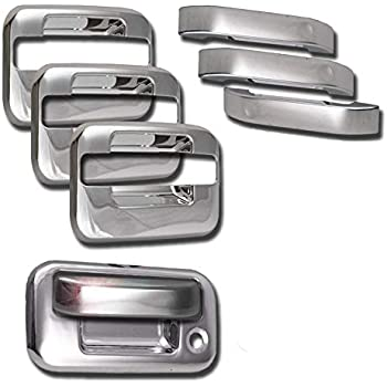 Center Section Only 401018 Putco Chrome Door Handle Covers for Ford F150 4DR