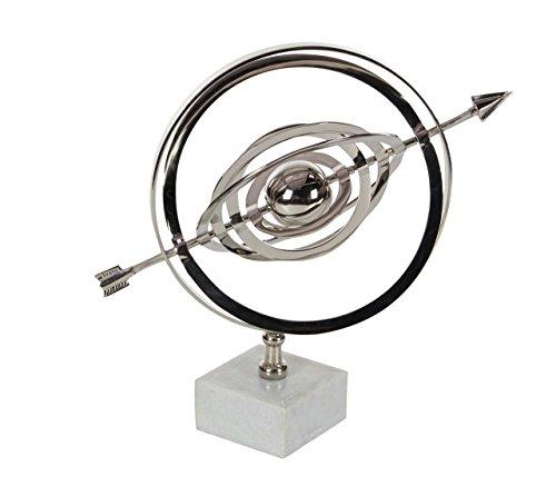 Deco 79 28536 Aluminum and Ceramic Armillary Sphere Sculpture, 13