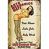Metal Tin Sign Auto Mechanics Mate Decor Bar Pub Home Vintage Retro TIN Sign 7.8X11.8 INCH