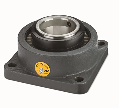 Big Bearing M2000F-1-11/16 M2000 Heavy Duty Four Bolt Flange Bearing, 1-11/16'' Shaft Size, 5'' Length, 3-1/16'' Thickness, 10 lb., Iron/Steel by Big Bearing (Image #1)