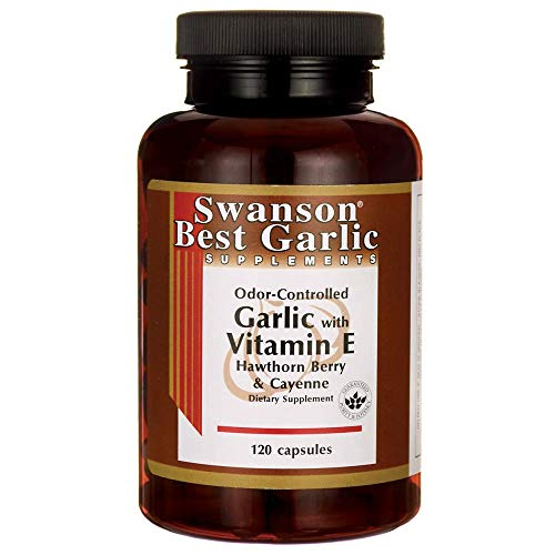 - Swanson Garlic with Vitamin E Hawthorn Berry & Cayenne 120 Capsules