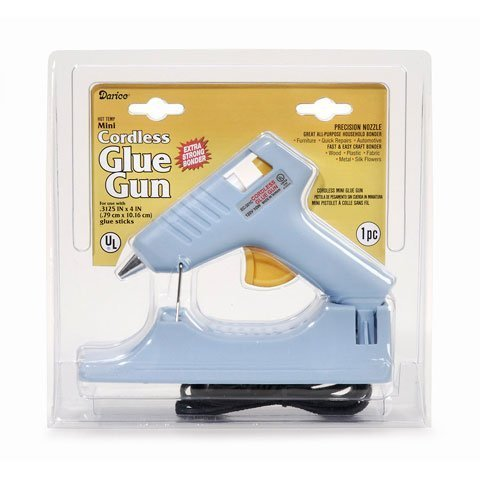 Cordless Glue Gun (Bulk Buy: Darice DIY Crafts Mini Glue Gun Cordless 120 V 10 Watts (1-Pack) 10875A)