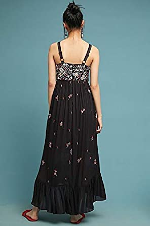 2f2863524350d Anthropologie Fiona Embroidered Maxi Dress by Ranna Gill Sz SP - NWT at  Amazon Women's Clothing store: