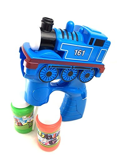 (Create Your Cartoon Express Train Bubble Gun Blowing Gun w/ Light 2 Bubble Solution (Color May Vary))
