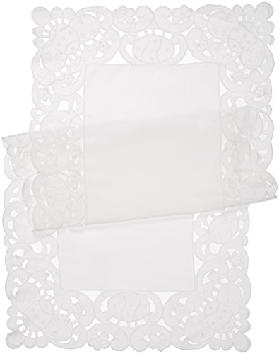 Xia Home Fashions Spring Egg Table Runner, 16 by 36-Inch,...