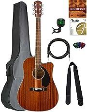 Fender CD-60SCE Solid Top Dreadnought Acoustic-Electric Guitar Bundles