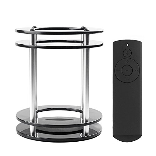 (Docooler Acrylic Speaker Stand with Soft-touch Silicone Rubber Case for Amazon Echo Speaker and Echo Dot Remote Control)